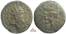 Ancient Coins - Postumus reduced Double Sestertius - FIDES MILITVM - Very Rare