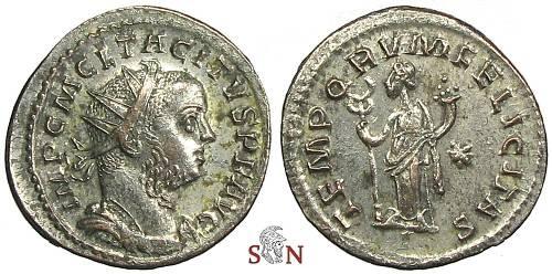Ancient Coins - Tacitus Antoninianus - TEMPORVM FELICITAS - RIC 65