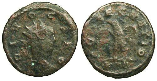 Ancient Coins - Divus Carus Antoninianus - CONSECRATIO - RIC 47