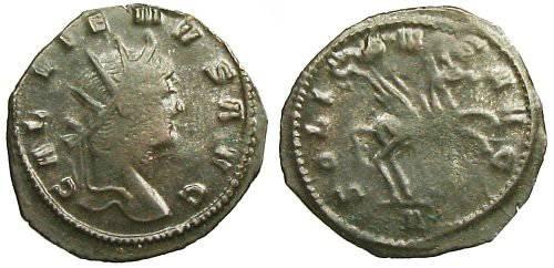 Ancient Coins - Gallienus Antoninianus - Pegasus advancing right - RIC 283