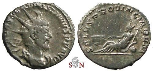 Ancient Coins - Postumus Antoninianus - SALVS PROVINCIARVM - Very Rare first Emission with full name of Postumus
