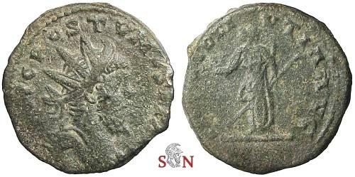 Ancient Coins - Postumus reduced Double Sestertius - PROVIDEI VTIA (sic!) AVG - Bastien 283