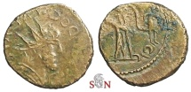 Ancient Coins - Tetricus I local imitation - deity standing right, holding small figure - Very Rare