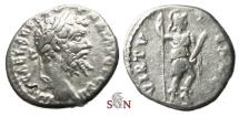 Ancient Coins - Septimius Severus Denarius - VIRTVTE AVG - Virtus standing right - RIC 431 - Emesa mint