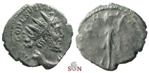 Ancient Coins - South Petherton Hoard (UK)- Tetricus I. Antoninianus - Very Rare ESVVIVS Obv. Legend - VICTORIA AVG