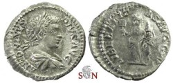 Ancient Coins - Caracalla Denarius - LIBERALITAS AVGG V - RIC 136 b