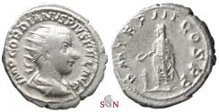 Ancient Coins - Gordianus III. Antoninianus - Emperor sacrificing over altar - RIC 68