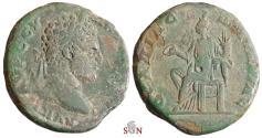 Ancient Coins - THRACE, Pautalia - Caracalla AE 28 mm - Homonoia seated left - Varbanov 5140 var.