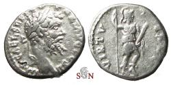 Ancient Coins - Septimius Severus Denarius - VIRTVTE AVG - Virtus standing right - RIC 431 - Emesa mint