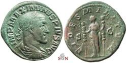Ancient Coins - Maximinus I. Thrax Sestertius - FIDES MILITVM - RIC 43