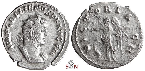 Ancient Coins - Gallienus Antoninianus - VICTORIA GM - Goebl 147 k