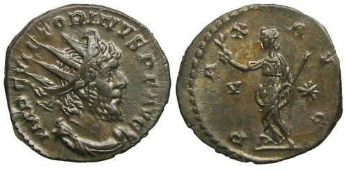 Ancient Coins - Victorinus Antoninianus - PAX AVG - Elmer 682