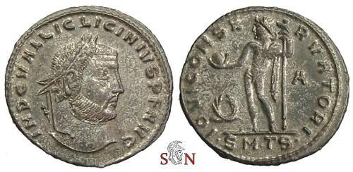Ancient Coins - Licinius Follis - IOVI CONSERVATORI - Thessalonica mint - RIC 49