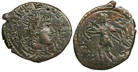 Ancient Coins - Tetricus II local imitation - Mars walking left