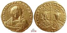 Ancient Coins - Constantinus VII. and Romanus II. Gold Solidus - bust of Christ -  Constantinopolis - Sear 1751