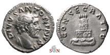 Ancient Coins - Divus Antoninus Pius Denarius - pyramidal crematorium - RIC 438