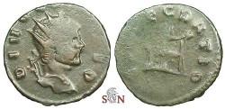 Ancient Coins - Divus Claudius II Gothicus Antoninianus - CONSECRATIO - RIC 259