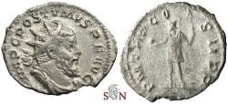 Ancient Coins - Postumus Antoninianus - P M TR P COS II P P - Elmer 129