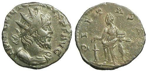 Ancient Coins - Victorinus Antoninianus - PIETAS AVG - Elmer 741