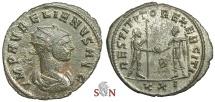 Ancient Coins - Aurelianus Antoninianus - RESTITVTOR EXERCITI - rare with draped bust - RIC 366