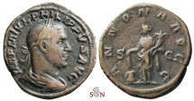 Ancient Coins - Philippus I Sestertius - ANNONA AVGG - RIC 168a