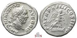 Ancient Coins - Caracalla Denarius - Victory on prow - RIC 185