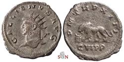 Ancient Coins - Gallienus Antoninianus - lion walking left, bull's head before - Goebl 1622 f
