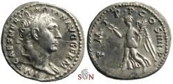 Ancient Coins - Trajanus Denarius - Victory advancing left - RIC 60