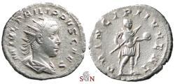 Ancient Coins - Philippus II Antoninianus - PRINCIPI IVVENT - RIC 216c