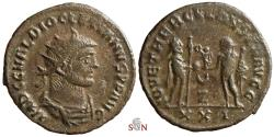Ancient Coins - Diocletianus Antoninianus - IOVI ET HERCV CONSER AVGG - ex Grohs-Fligely collection 1875-1962
