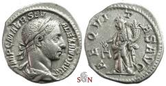 Ancient Coins - Severus Alexander Denarius - AEQVITAS AVG - RIC 127