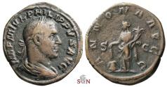 Ancient Coins - Philippus I Sestertius - ANNONA AVGG - RIC 168a