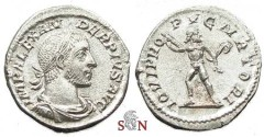 Ancient Coins - Severus Alexander Denarius - IOVI PROPVGNATORI - RIC 201