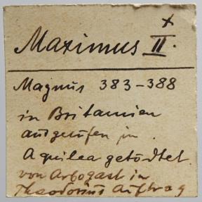 Ancient Coins - Magnus Maximus AE 23 mm - REPARATIO REIPVB - ex Grohs-Fligely collection 1875-1962