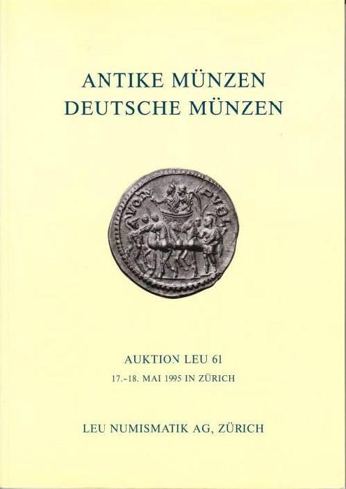 Ancient Coins - LEU Numismatics - Auction 61 - Ancient Coins - 17.-18. May 1995