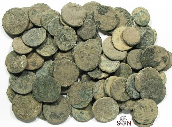 Ancient Coins - Large Lot of 60 low grade Roman Coins - Bargain price