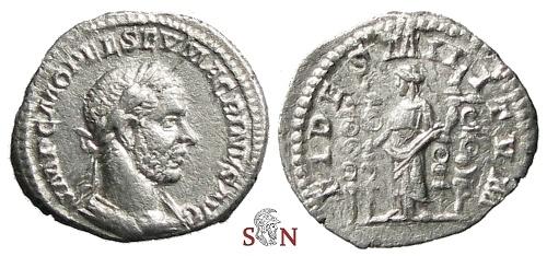 Ancient Coins - Macrinus Denarius - FIDES MILITVM - RIC 66