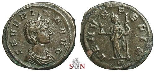 Ancient Coins - Severina Denarius - VENVS FELIX - RIC6