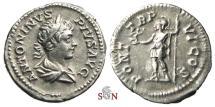 Ancient Coins - Caracalla Denarius - Roma standing left - RIC 69
