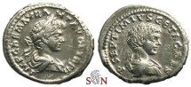 Ancient Coins - Caracalla Denarius - Very Rae with bust of Geta - RIC -
