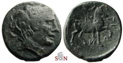 Ancient Coins - Macedonian Kingdom, Philip II 359-336 BC AE 20 mm - Apollo - youth in horseback