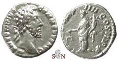 Ancient Coins - Commodus Denarius - Aequitas standing left - RIC 13