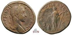 Ancient Coins - Severus Alexander Sestertius - ANNONA AVGVSTI - RIC 549