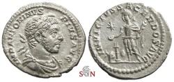 Ancient Coins - Elagabalus Denarius - INVICTVS SACERDOS AVG - RIC 88