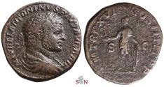 Ancient Coins - Caracalla Sestertius - exteremly rare with Rev. Legend P M TR P XVI COS IIIII [sic] P P - not in BMC and RIC