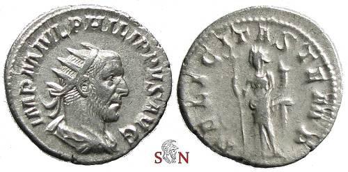Ancient Coins - Philippus I Arabs Antoninianus - FELICITAS TEMP - RIC 31
