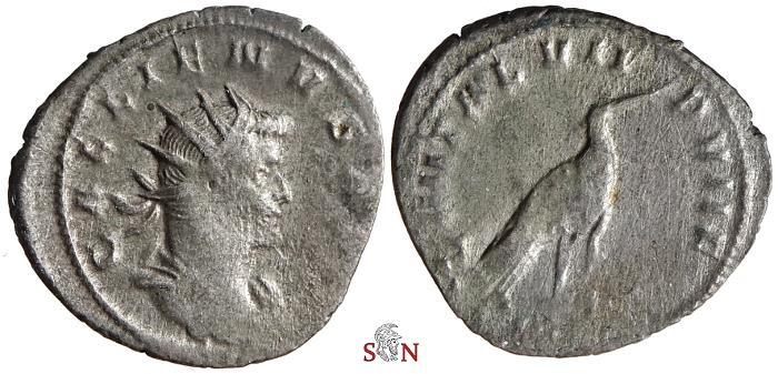 Ancient Coins - Gallienus Antoninianus - LEG III ITAL VII P VII F - Goebl 1000 h