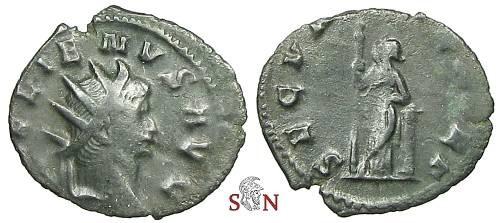 Ancient Coins - Gallienus Antoninianus - SECVRIT PERPET - RIC 280
