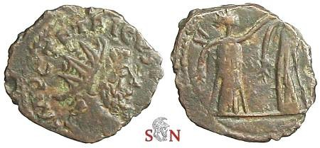 Ancient Coins - Tetricus I local imitation - two figures standing - Very Rare