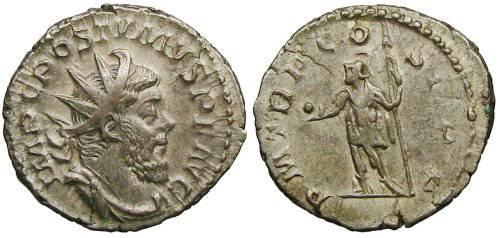 Ancient Coins - Postumus Antoninianus - PM TR P COS II P P - Elmer